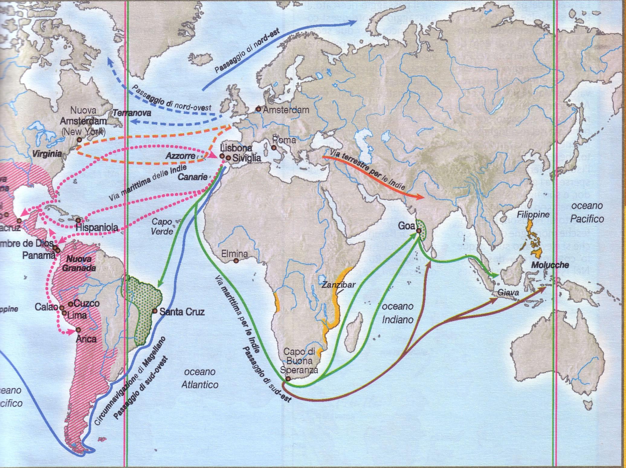 Colombo E I Viaggi Laceprof Materiali